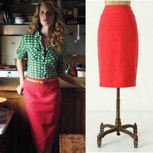 Anthro Moulinette Soeurs Foundational Pencil Skirt